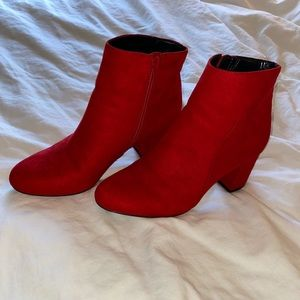 INC Red Booties